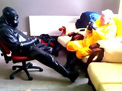 Two rubber friends. porn tube video