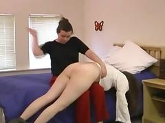 OTK spanking in the bedroom porn tube video