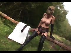 British tattoed slut fucked up the arse in stockings porn tube video