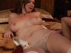 All natural women in sexy lingerie having hot lesbian sex