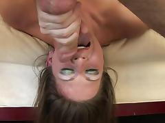 Pornstar in lingerie opens up and gives a great blowjob