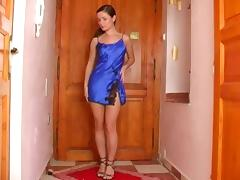 Appealing doll Tereza has somehow hared cave while masturbating indoors