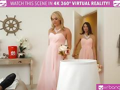 VR BANGERS- Mia Malkova and Riley Reid Bridesmaids fuck tube porn video