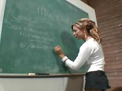 Demi is the sexy teacher who was always in love with the penetration!