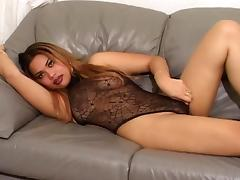 Stunning lady gets on the bed in order expose her private parts porn tube video