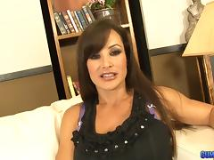 Lisa Ann hires a personal masseuse who rubs her and fucks her