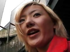 Japanese blonde is quite happy to take it up her tunnel of love porn tube video