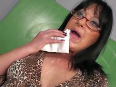 Threesome in the classroom with a big tits mature teacher tube porn video