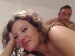 Nude petting.