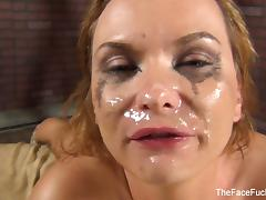 Katja Kassin gets a facial from a big black cock