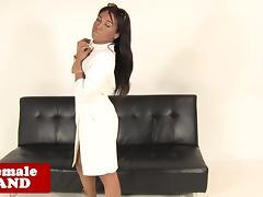 Black tgirl beauty jerksoff her meat shaft porn tube video