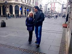 Middle-aged blonde enjoys getting the rough screwing from her buddy
