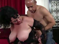 Fatty and an older guy with a big cock fucking passionately porn tube video