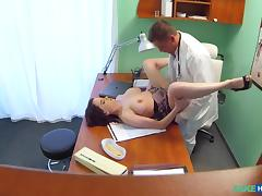 Anabelle in Busty beauty needs doctor to keep her contraceptive prescription secret - FakeHospital