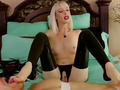 Latex footjob porn tube video