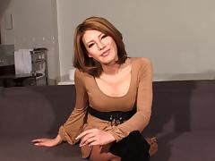 Glamorous brunette has the most stunning shemale cock ever! porn tube video