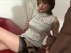 Dick pulling mature slut tube porn video