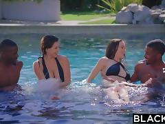Black Orgy, Brunette, Creampie, Foursome, Fucking, Group