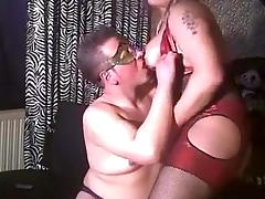 BBW tranny in homemade porn