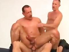 Hot military threesome tube porn video