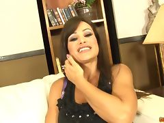 Massaging the boobs of Lisa Ann