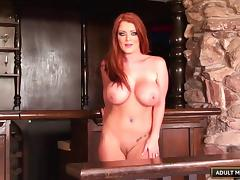 Long-haired beauty Sophie loves getting drilled in all the positions