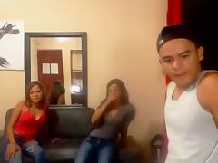 Latina, Girlfriend, Latina, Threesome, Webcam