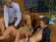 Vintage sex goddesses enjoying the pussy drilling in an orgy