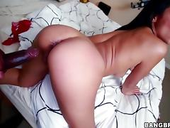Cassandra Cruz takes black cock doggystyle