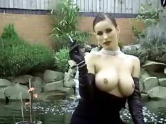 RARE kyla in gloves smoking tube porn video