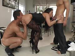 they stuffed her wet holes with their hard meat @ slutty girls love rocco #11