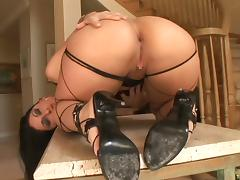 Exotic Latina is ready to take the black boner up her tight asshole porn tube video