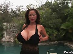 Old, Asian, Big Tits, Boobs, Couple, Hardcore