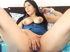 Alisonsquirtx playing with a vibrator