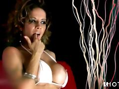 busty portuguese milf cums solo on the couch tube porn video