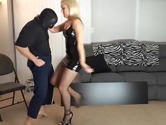 BDSM, BDSM, Blonde, Ballbusting, Ball Kicking