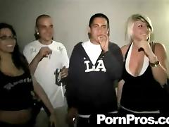 Lesbian babes going completely wild at a crazy party