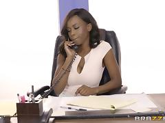 Is chocolate Jezabel ready to ride the rock-solid white cock? porn tube video