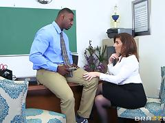 Office, Blowjob, Boss, Couple, Hardcore, Interracial