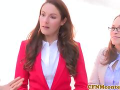 CFNM Lily Love plowed deep during threeway tube porn video
