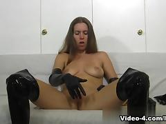 Lots Of Gloves Masturbation tube porn video