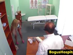Real patient fingered and fucked by her dr porn tube video