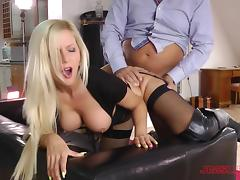 Old Man, Babe, Big Tits, Blonde, Blowjob, Boobs