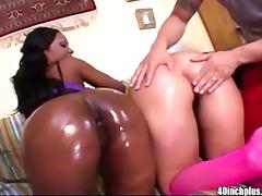 Big ass Luscious Lopez and Ashley Licks enjoy fucking porn tube video