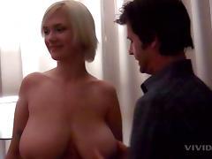 Massive all natural tits wrap around his dick for pleasure porn tube video
