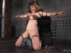 Black guy with a very naughty mind gives the chick a bondage treatment