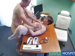 Busty patient fucked by doctor
