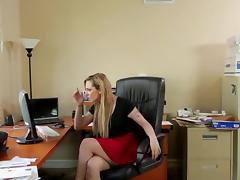 Blonde, Anal, Blonde, Blowjob, Secretary