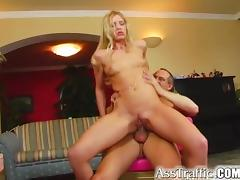 Ass Traffic Anal virgin Maria takes a toy up butt then a tube porn video