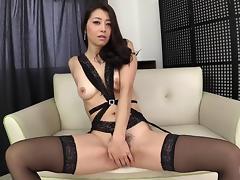 Gorgeous Maki Hojo definitely knows how to use the sex toys! porn tube video